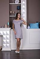"""Женское домашнее платье-сорочка с коротким рукавом  """"Слип"""""""