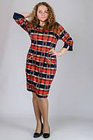 Женское платье в клетку в больших размерах g-3015945