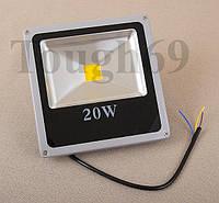 LED Прожектор светодиодный 20Вт 220В IP65 тепло белый