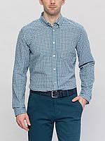Мужская рубашка LC Waikiki в сине-зелено-белые полоски