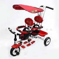 Велосипед детский трехколесный для двойни «Супер трешка» 3 цвета