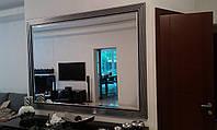 Интерьерное зеркало в раме под заказ с установкой.