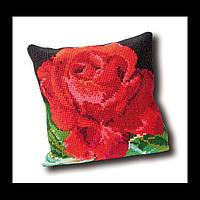 Набор для вышивки крестом 023.4001  Подушка Роза. Rose Cushion  (Теа Гувернер)