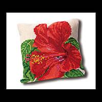 Набор для вышивки крестом 023.4005 Гибискус Подушка. Hibiscus Cushion  (Теа Гувернер)