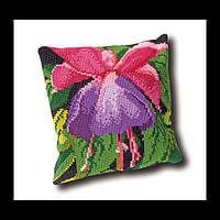 Набор для вышивки крестом 023.4006 Фуксия Подушка. Fuchsia Cushion  (Теа Гувернер)