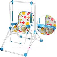 Детские качели со столиком стульчик для кормления трансформер Bambi Q01-PVC-4