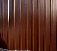 Профнастил  0,4 мм, цвет шоколад RAL 8017, 1.5 м