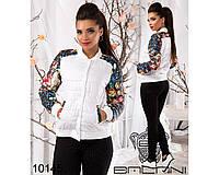 Легкая стеганая короткая куртка с принтом 900 (727)