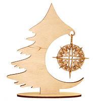 Набор новогоднее украшение из фанеры Рождественская елка F-042