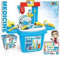 Детский игровой набор доктора стойка в чемодане 8333