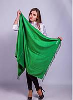 Палантин пашмина однотононный 70-29 ярко-зеленый