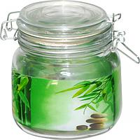 Емкость для сыпучих продуктов на зажиме (Зеленый бамбук) 0.9л SNT 6140
