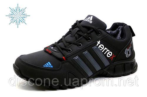 Зимние кроссовки Adidas Terrex, мужские, на меху, черные