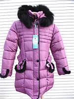 Зимняя куртка для девочки с мехом