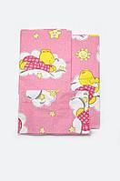 Комплект постельного белья в кроватку для новорожденных девочка 3 предмета хлопок