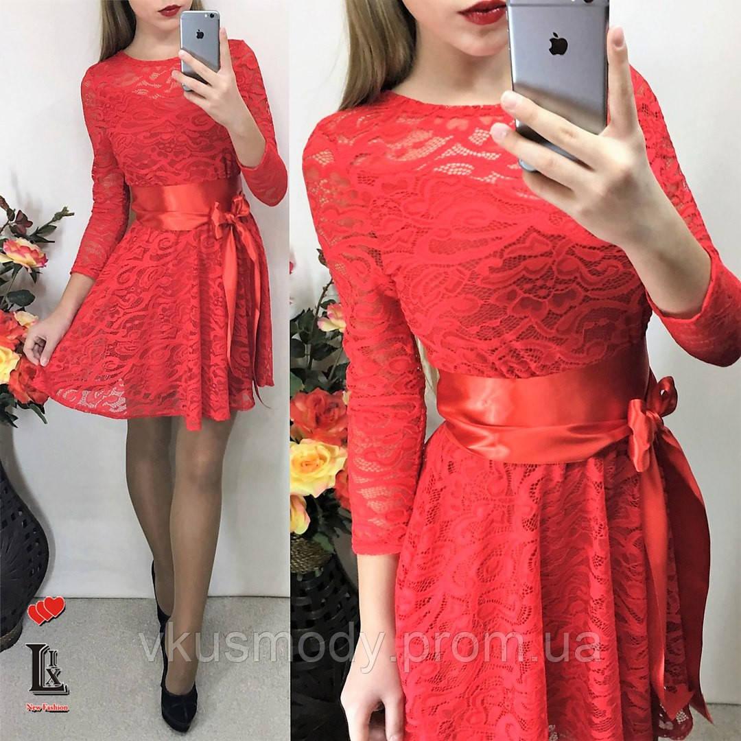 Гипюровые платья с поясами