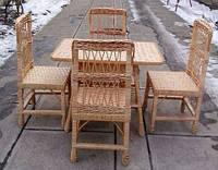 Мебель плетеная стулья и стол