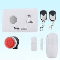 Охранная сигнализация GSM 10C PRO комплект НОВИНКА  централь, RC02-2 шт, PR03-1 шт., DS01-1 шт, сирена красн.