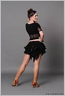 Юбка для бальных танцев- латина «Перо»