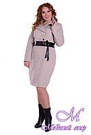 Женское красивое осеннее пальто батал (р. XL-4XL) арт. Магия донна осень