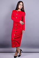 Барбара. Стильное платье. Красный., фото 1