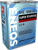 Масло моторное Eneos Super Touring API CI-4 10W-40 100% Synthetic 4лит