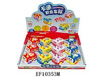 Детские машинки, игрушки для малышей. Заводные машинки EF10353M. Машинки разных цветов, 12 штук в коробке