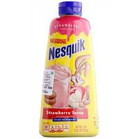 Клубничный сироп для молочных коктелей и мороженного Nesquik Syrup Strawber