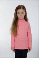 Гольф детский для девочки розовый, белый, водолазка Wiktoria