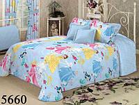 Детское постельное белье Принцессы Дисней  ранфорс ТМ Вилюта  код 5660 голубой