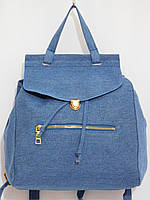 Рюкзак джинсовый для вещей голубой