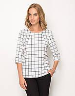 Женская блуза белого цвета в клетку. Модель Z47 Sunwear. Коллекция осень-зима 2017.