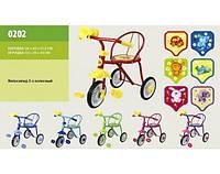 """Велосипед 3-х колес 0202 (6шт) """"Малятко"""", 6цветов,гвоздик"""