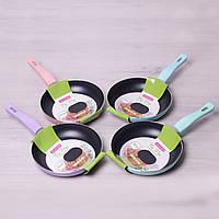 Сковорода Kamille 20см с антипригарным покрытием без крышки