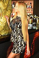 Леопардовое мини - платье