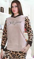 Махровая леопардовая пижама
