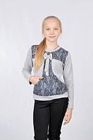 Модная детская кофта с ажурными вставками