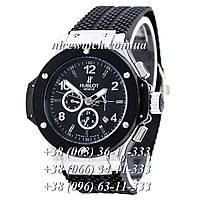 Механические часы Hublot SSSH-1012-0153 мужские черные каучуковые без стразов   классика