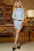 Женское светло-серое платье-туника из ангоры 1937 Seventeen  42-48  размеры