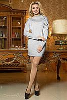 Светло-серое женское платье-туника из ангоры 1933 Seventeen  42-48  размеры
