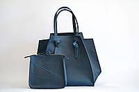 Кожаная дизайнерская сумка - мешок шоппер 0007 цвета