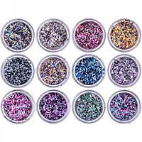 Конфетти для дизайна ногтей Beauty sky №17-9, набор 12 шт
