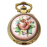 Чайка позолоченные часы-кулон