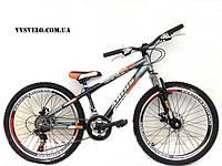 """Горный велосипед Ardis Fitness 24"""" модель 2014 бело черн ,серооранжевый"""