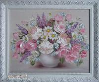 Картина цветы масло Розы и Пионы, фото 1