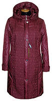 Куртка женская Батал 10-014 - вишня: 54,56,58,60,62,64,66