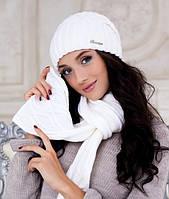 Комплект шапка и шарф Braxton Аврора белый