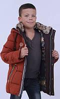 Удлинённая куртка зимняя классика на тинсулейте KIKO 134,140,146,152,158,164