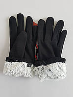 Перчатки женские х/б утеплитель кролик