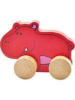 """Деревянная игрушка-каталка """"Бегемот"""" для детей от 1 года ТМ """"Игрушки из дерева"""" Д295"""
